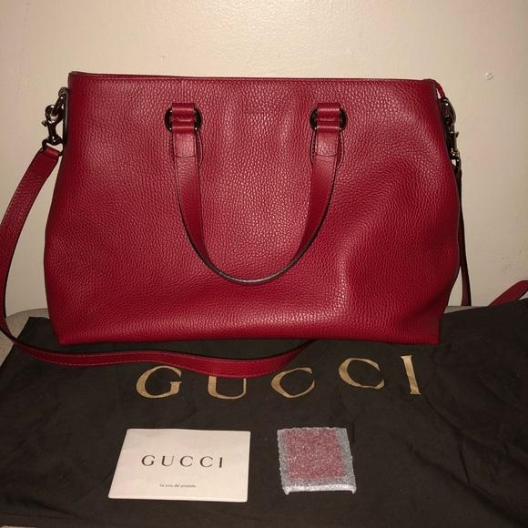98429806f Gucci Bags   Pebble Leather Bamboo Tassel Tote   Poshmark
